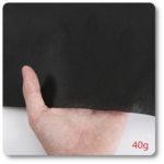 flizelina tapicerska czarna 40 gram