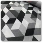tkanina na taras w romby