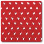 białe gwiazdki na czerwonym tle bawełna