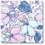 pastelowe kwiaty na tkaninie