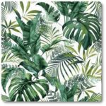 zasłony zielone liście