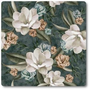 materiał na zasłony w kwiaty